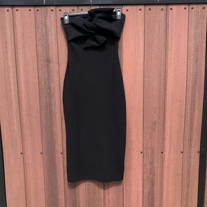 Bow Twist Midi Dress